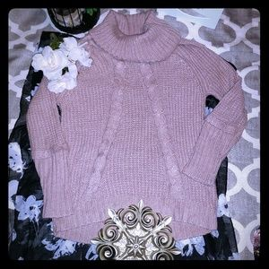 Ivanka Trump Dusty Pink Cowl Neck Sweater